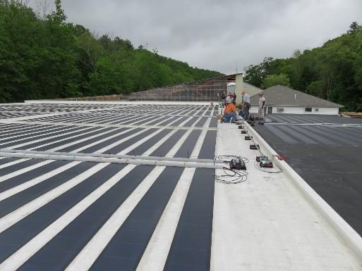 Solar array on warehouse